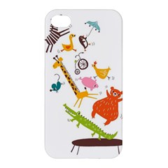 Cute Cartoon Animals Apple Iphone 4/4s Hardshell Case by Brittlevirginclothing