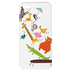 Cute Cartoon Animals Apple Iphone 5 Hardshell Case by Brittlevirginclothing