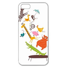 Cute Cartoon Animals Apple Seamless Iphone 5 Case (clear) by Brittlevirginclothing