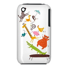 Cute Cartoon Animals Iphone 3s/3gs by Brittlevirginclothing