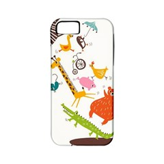 Cute Cartoon Animals Apple Iphone 5 Classic Hardshell Case (pc+silicone) by Brittlevirginclothing