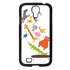 Cute Cartoon Animals Samsung Galaxy S4 I9500/ I9505 Case (black) by Brittlevirginclothing