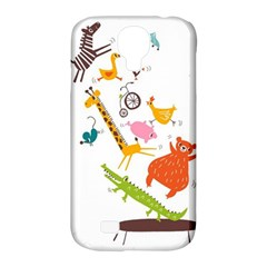 Cute Cartoon Animals Samsung Galaxy S4 Classic Hardshell Case (pc+silicone)
