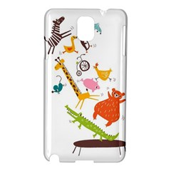 Cute Cartoon Animals Samsung Galaxy Note 3 N9005 Hardshell Case by Brittlevirginclothing