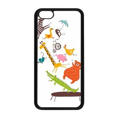 Cute Cartoon Animals Apple Iphone 5c Seamless Case (black) by Brittlevirginclothing