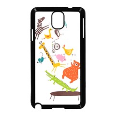 Cute Cartoon Animals Samsung Galaxy Note 3 Neo Hardshell Case (black) by Brittlevirginclothing