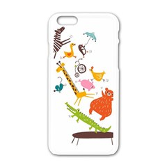 Cute Cartoon Animals Apple Iphone 6/6s White Enamel Case by Brittlevirginclothing