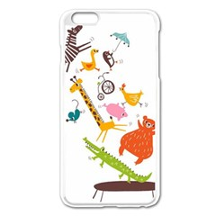 Cute Cartoon Animals Apple Iphone 6 Plus/6s Plus Enamel White Case by Brittlevirginclothing