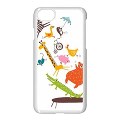 Cute Cartoon Animals Apple Iphone 7 Seamless Case (white) by Brittlevirginclothing