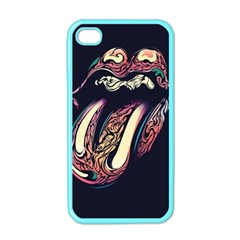 The Rolling Stones Glowing Apple Iphone 4 Case (color) by Brittlevirginclothing