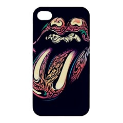 The Rolling Stones Glowing Apple Iphone 4/4s Premium Hardshell Case by Brittlevirginclothing