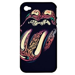 The Rolling Stones Glowing Apple Iphone 4/4s Hardshell Case (pc+silicone) by Brittlevirginclothing