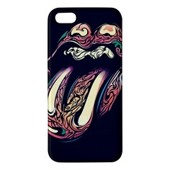 The Rolling Stones Glowing Apple Iphone 5 Premium Hardshell Case by Brittlevirginclothing