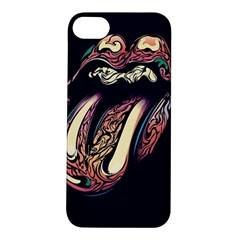 The Rolling Stones Glowing Apple Iphone 5s/ Se Hardshell Case by Brittlevirginclothing
