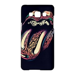 The Rolling Stones Glowing Samsung Galaxy A5 Hardshell Case  by Brittlevirginclothing