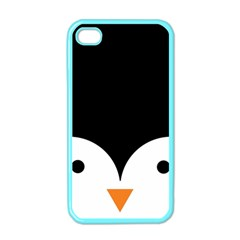 Cute Pinguin Apple Iphone 4 Case (color) by Brittlevirginclothing