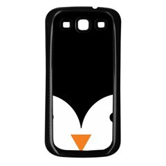 Cute Pinguin Samsung Galaxy S3 Back Case (black) by Brittlevirginclothing