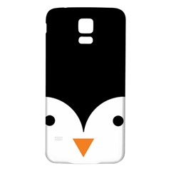 Cute Pinguin Samsung Galaxy S5 Back Case (white) by Brittlevirginclothing