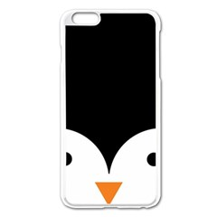 Cute Pinguin Apple Iphone 6 Plus/6s Plus Enamel White Case by Brittlevirginclothing