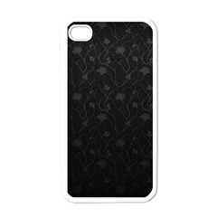 Dark Silvered Flower Apple Iphone 4 Case (white) by Brittlevirginclothing