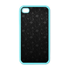 Dark Silvered Flower Apple Iphone 4 Case (color) by Brittlevirginclothing