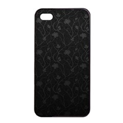 Dark Silvered Flower Apple Iphone 4/4s Seamless Case (black) by Brittlevirginclothing
