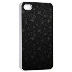 Dark Silvered Flower Apple Iphone 4/4s Seamless Case (white) by Brittlevirginclothing