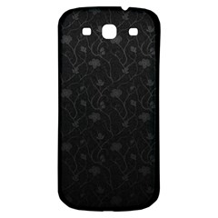Dark Silvered Flower Samsung Galaxy S3 S Iii Classic Hardshell Back Case