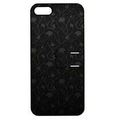 Dark Silvered Flower Apple Iphone 5 Hardshell Case With Stand