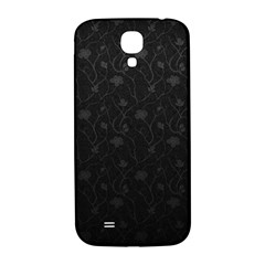 Dark Silvered Flower Samsung Galaxy S4 I9500/i9505  Hardshell Back Case