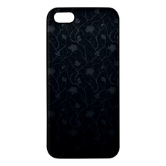 Dark Silvered Flower Iphone 5s/ Se Premium Hardshell Case