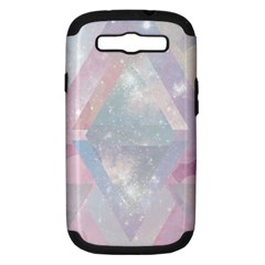 Pastel Colored Crystal Samsung Galaxy S Iii Hardshell Case (pc+silicone) by Brittlevirginclothing