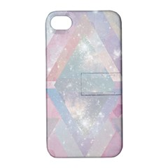 Pastel Colored Crystal Apple Iphone 4/4s Hardshell Case With Stand by Brittlevirginclothing