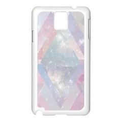 Pastel Colored Crystal Samsung Galaxy Note 3 N9005 Case (white)
