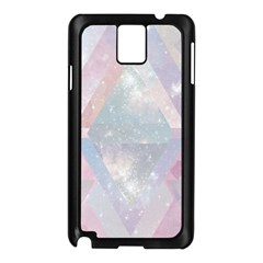 Pastel Colored Crystal Samsung Galaxy Note 3 N9005 Case (black) by Brittlevirginclothing