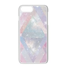 Pastel Colored Crystal Apple Iphone 7 Plus White Seamless Case by Brittlevirginclothing
