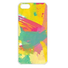 Paint Brush Apple Iphone 5 Seamless Case (white) by Brittlevirginclothing