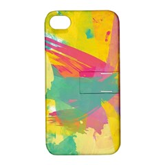 Paint Brush Apple Iphone 4/4s Hardshell Case With Stand by Brittlevirginclothing