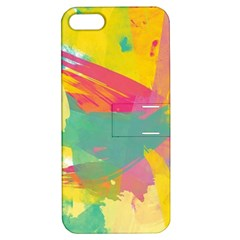 Paint Brush Apple Iphone 5 Hardshell Case With Stand by Brittlevirginclothing