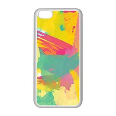 Paint Brush Apple Iphone 5c Seamless Case (white) by Brittlevirginclothing