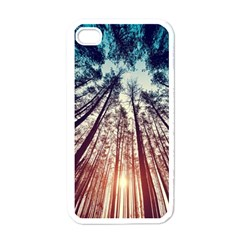 Up View Forest Apple Iphone 4 Case (white)