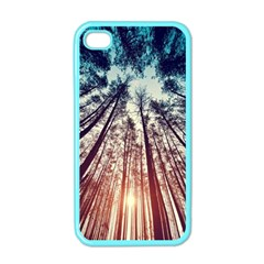 Up View Forest Apple Iphone 4 Case (color) by Brittlevirginclothing