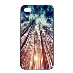 Up View Forest Apple Iphone 4/4s Seamless Case (black) by Brittlevirginclothing
