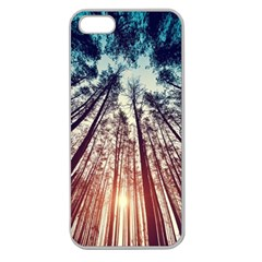 Up View Forest Apple Seamless Iphone 5 Case (clear)