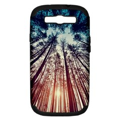 Up View Forest Samsung Galaxy S Iii Hardshell Case (pc+silicone) by Brittlevirginclothing