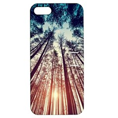 Up View Forest Apple Iphone 5 Hardshell Case With Stand