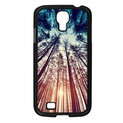 Up View Forest Samsung Galaxy S4 I9500/ I9505 Case (black) by Brittlevirginclothing