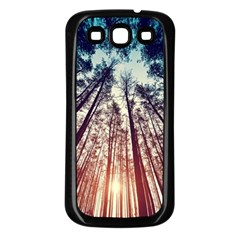 Up View Forest Samsung Galaxy S3 Back Case (black) by Brittlevirginclothing