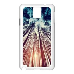 Up View Forest Samsung Galaxy Note 3 N9005 Case (white) by Brittlevirginclothing