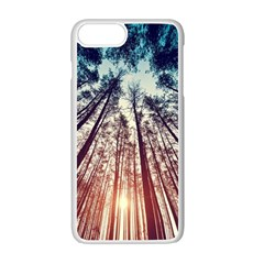 Up View Forest Apple Iphone 7 Plus White Seamless Case by Brittlevirginclothing